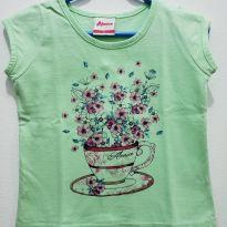 Blusa flores - 9 a 12 meses - Alenice