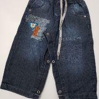 Calça jeans ursinho - 9 a 12 meses - Akiyoshi