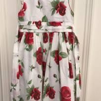 Vestido Rosas - 2 anos - Salameminguê
