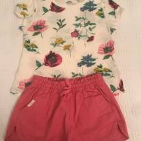 Conjunto short Zara e camiseta Old Navy