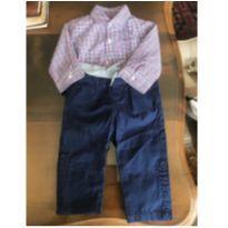 Conjunto calça Jeans/Body camisa - 9 a 12 meses - Janie and Jack e OshKosh