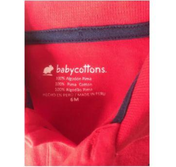 Macaquinho Baby Cottons - 6 meses - Baby Cottons