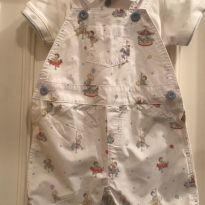 Jardineira Baby Cottons com Body - 6 meses - Baby Cottons