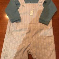 Jardineira Trusseau/ Body Baby Cottons - 9 a 12 meses - Trussardi e Baby Cottons