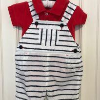 Jardineira com body Baby Cottons - 3 a 6 meses - Baby Cottons
