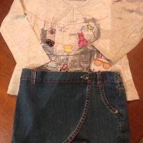 Conjunto Short/saia com camiseta