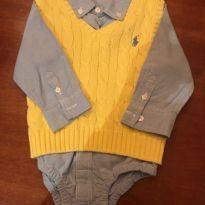 Conjunto Camisa Colete Ralph Lauren - 9 a 12 meses - Ralph Lauren e GAP