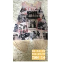 Lote de roupas NOVAS - 14 anos - Não informada