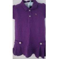 Vestido Roxo Original Ralph Lauren + Tapa fralda - 2 anos - Ralph Lauren