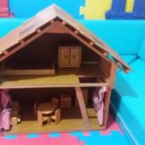 Casinha de madeira artesanal - Sem faixa etaria - Artesanal