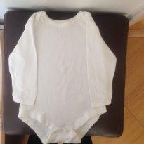 Body manga longa branco - 6 a 9 meses - Early  Days
