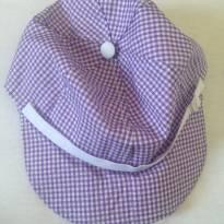 Chapéu boné algodão roxo - 3 meses - Não informada