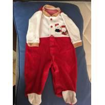 Macacão plush ursinho vermelho - 3 a 6 meses - ZigMundi