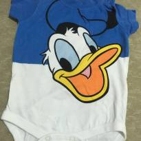 Body manga curta Pato Donald - 0 a 3 meses - Baby Club