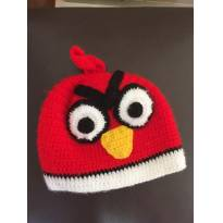 Touca Angry Birds de lã - 9 meses - Artesanal