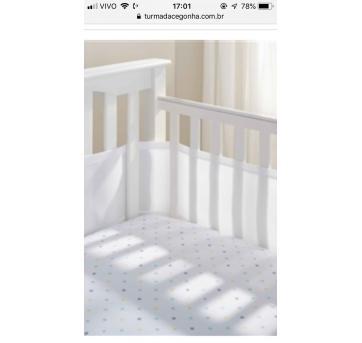 Tela respiratória protetora para grade de berço - Sem faixa etaria - Breathable Baby