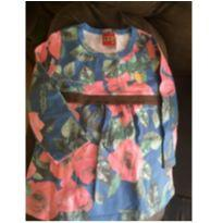 Camiseta tipo bata florida - 2 anos - Kyly