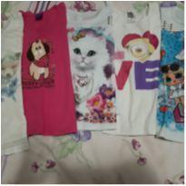 Lote camisetas manga comprida - 6 anos - `Milon e outro