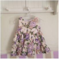 Vestido bebê floral - 0 a 3 meses - Sem marca