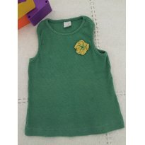 Blusa regata Green Clothing tam 18 meses - 18 meses - Green