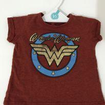 Camiseta Mulher Maravilha - 0 a 3 meses - C&A