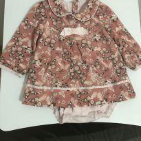 Body Vestido Florido Manga Longa - 9 a 12 meses - Teddy Boom