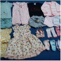 Lote de roupinhas e acessórios bebê menina - 6 meses - Baby Gap e Tilly Baby