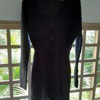 Casaco de tricot preto tamanho G - G - 44 - 46 - Não informada