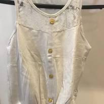 Blusa branca - 8 anos - Não informada