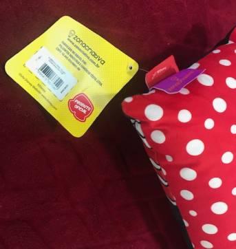 Almofada veludo Mickey - Sem faixa etaria - Não informada