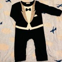 Macacão Smoking Terninho Bebê Festa - Sem faixa etaria - Não informada