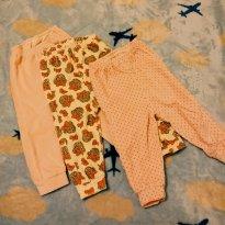 Kit Calças para meninas - 6 a 9 meses - Não informada