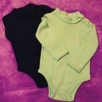 Kit com 2 peças - Body Infantil gola lata - 12 a 18 meses - Teddy Boom