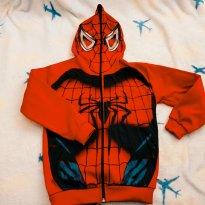 Blusão Jaqueta Heróis Capuz Mascara Homem Aranha (Spiderman) - 4 anos - A.J.K.
