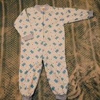 Pijama macacão de inverno - azul - 2 anos - Tampinha