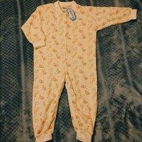 Pijama macacão de inverno - amarelo - 2 anos - Tampinha