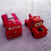 Carros de Vinil - Red e Mate - Disney Cars - Líder - Sem faixa etaria - Lider brinquedos