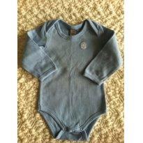 Body Manga Longa Azul Bebê Tigor T. Tigre - 3 meses - Tigor T.  Tigre