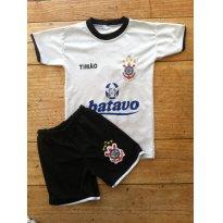 Uniforme Corinthians Ronaldo Camisa 9 - 3 anos - Não informada