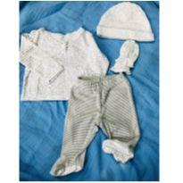 Kit blusa, calça, luvas e gorro carters - 0 a 3 meses - Carter`s