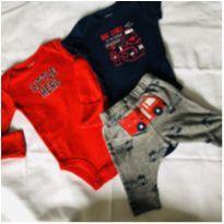 Conjunto de calça e 2 bodies Carter`s - Recém Nascido - Carter`s