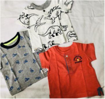 Kit 3 camisetas carters - 0 a 3 meses - Carter`s