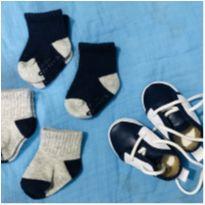 Kit 4 pares de meias carters + sapatinho 0-3 meses - 13 - Carter`s e sapatinho bebê