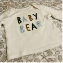 Camiseta manga longa - carters - Rn - Recém Nascido - Carter`s