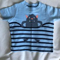 Camiseta carters monstro - 3 meses - 3 meses - Carter`s