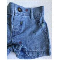 Shorts jeans menino carters 3 meses - 3 meses - Carter`s