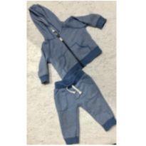 Moletom calça e blusa azul - carters - 6 meses - Carter`s