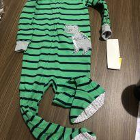 """Pijama """"Dino"""" com pezinho - 18m / COM ETIQUETA - 18 meses - Carter`s"""