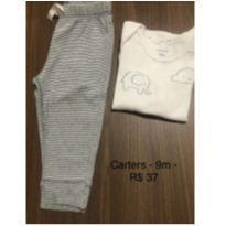 Body e calça - 9m - carters - 9 meses - Carter`s
