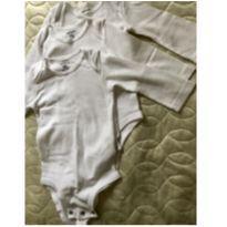 Kit 03 body Brancos manga longa - carters - 9m - 9 meses - Carter`s